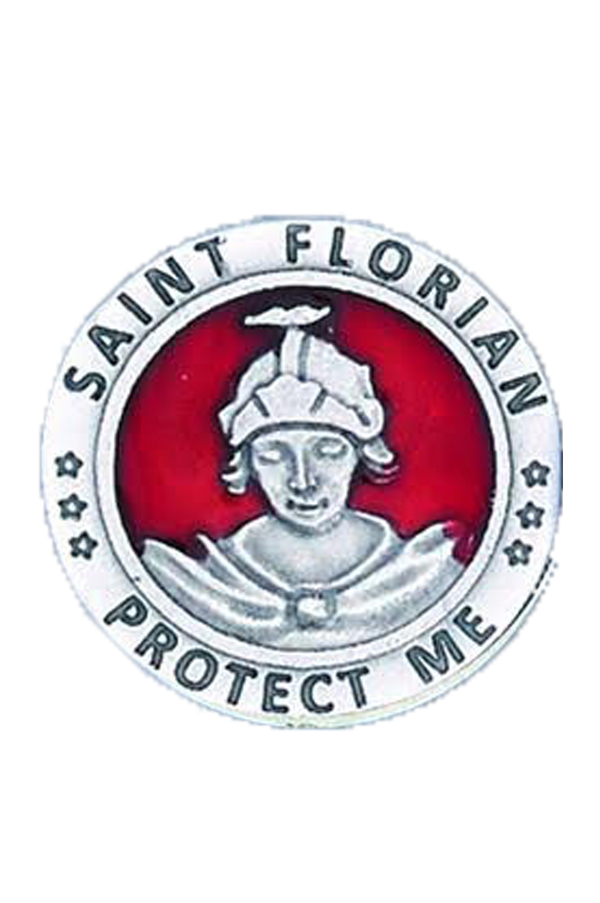 1.25 St. Florian Pocket Token - Red Enameled