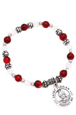 St. Florian Italian Beaded Stretch Bracelet