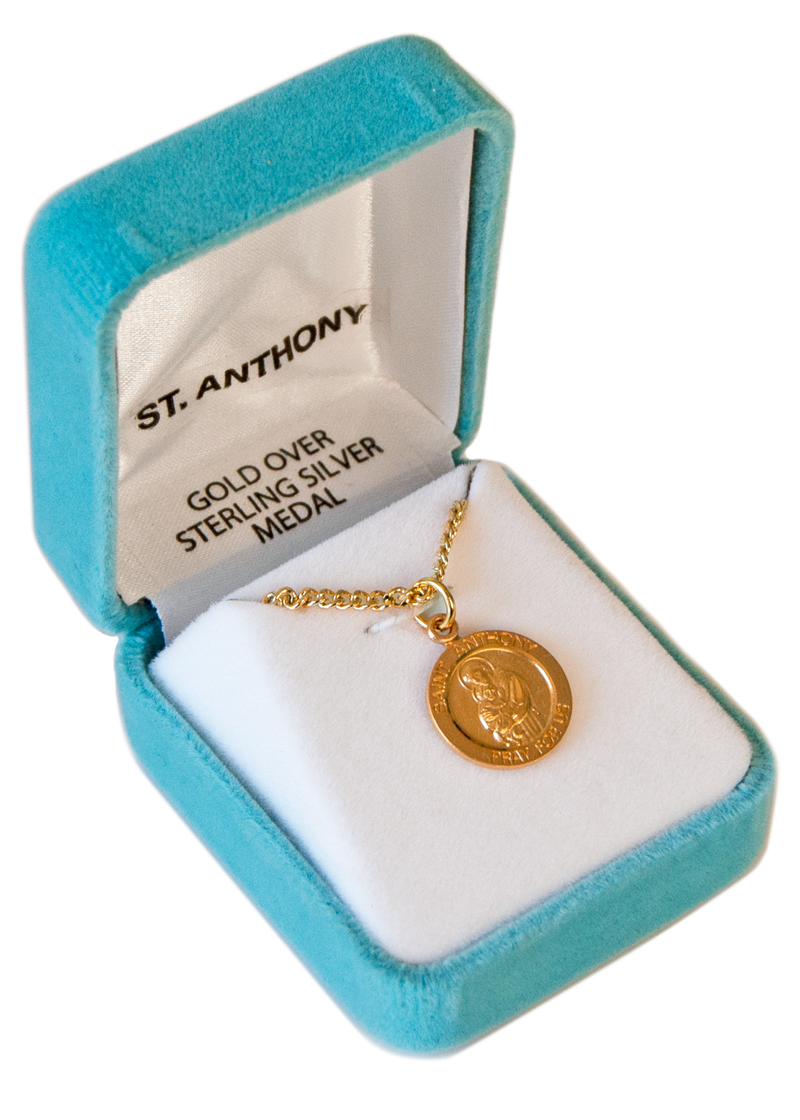 St. Anthony Medal: Gold Over Sterling Silver