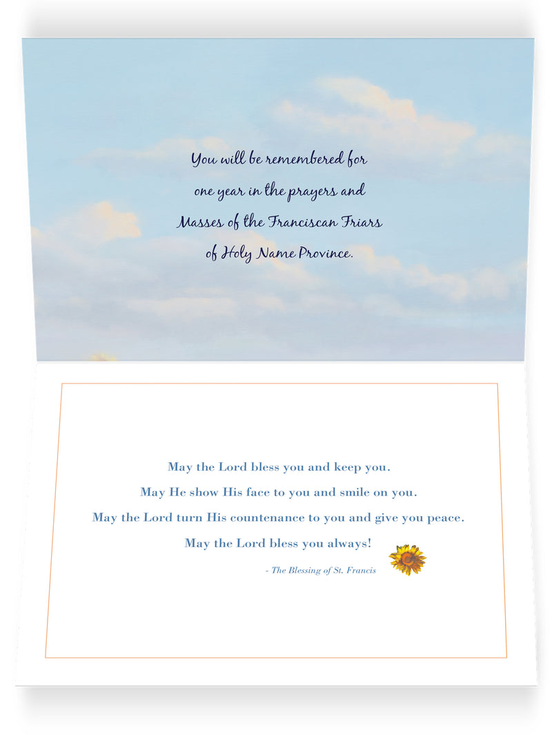 Thinking of You Sunflower Card