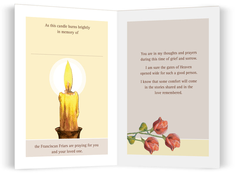 NEW Memorial Candle Card