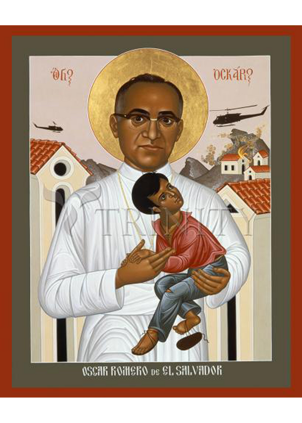St. Oscar Romero of<br>  El Salvador Holy Card