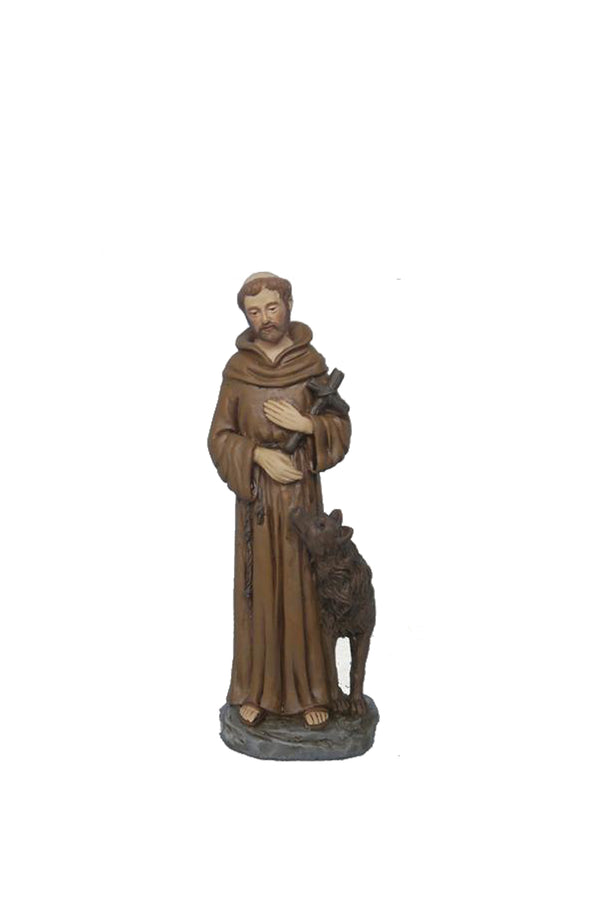 "4"" Saint Francis Resin Statue"