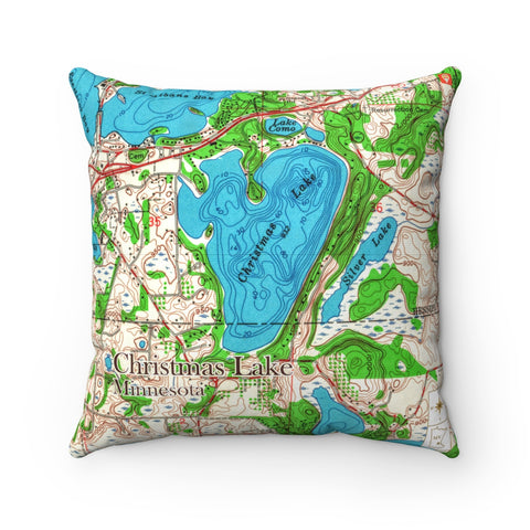 MN Lake Pillow - Christmas Lake