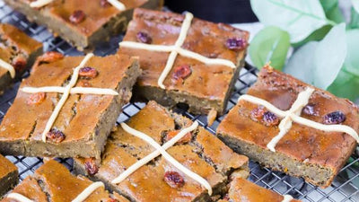Vegan Hot Cross Bun Blondies