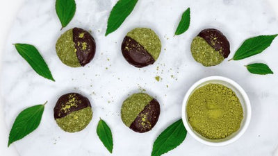 Super Green Mint Matcha Raw Cookies