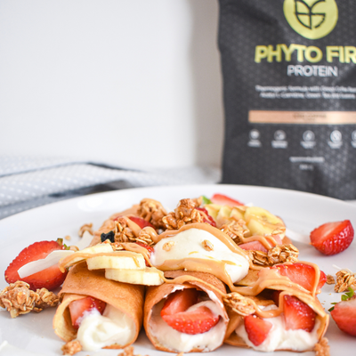 Honeycomb Protein Crepes