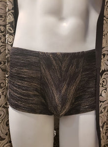 Maillot de bain / Princier / boxer avec dentelle noir et or / sportif / anatomique / short / swimwear lace gold and black