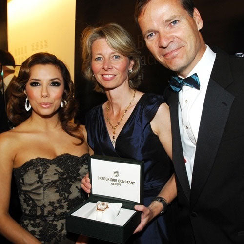 Frederique Constant teams up with actress<br> Eva Longoria for the prestigious Par Coeur Gala 2010