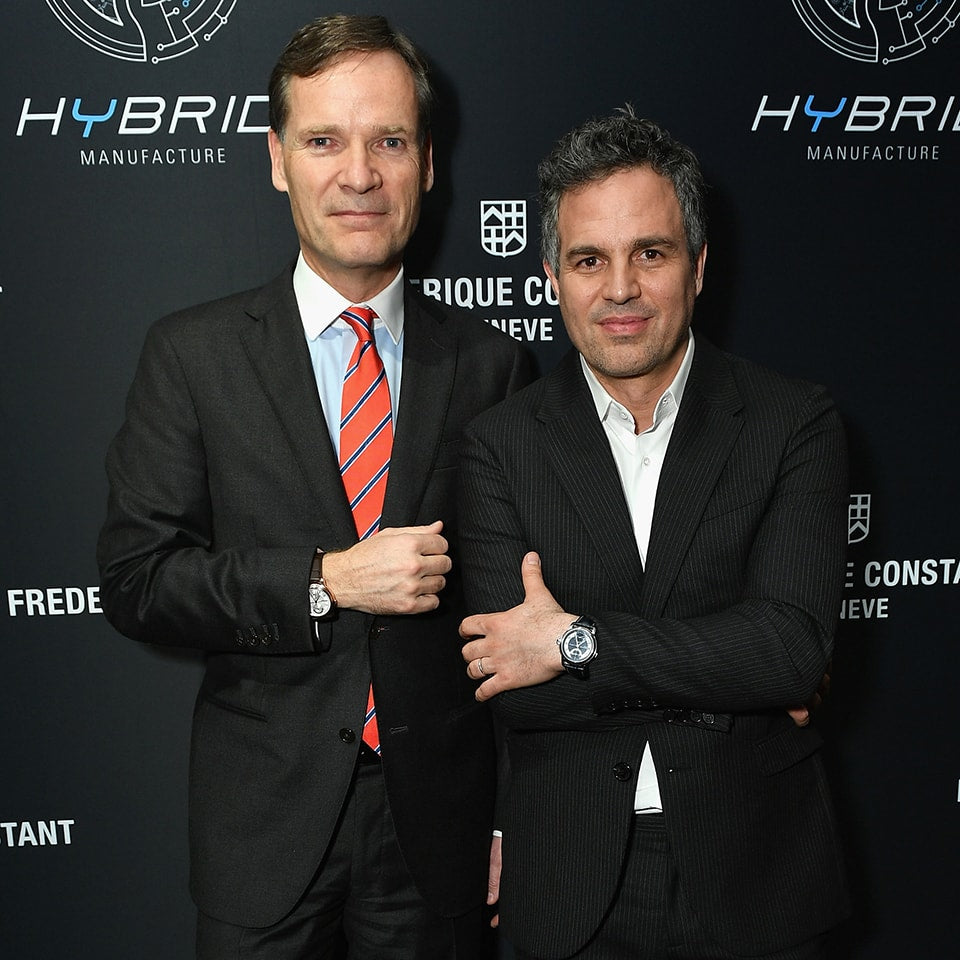 Frederique Constant Launched <BR>the Hybrid Manufacture <BR>in New York with Mark Ruffalo