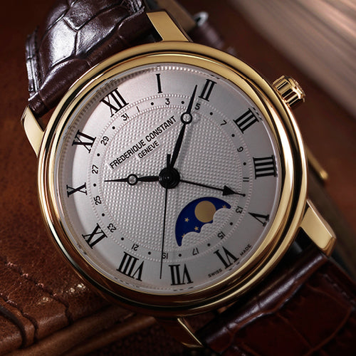 "Frederique Constant's ""Accessible Luxury"" <br>premise translated into the new Classics Moonphase Automatic"