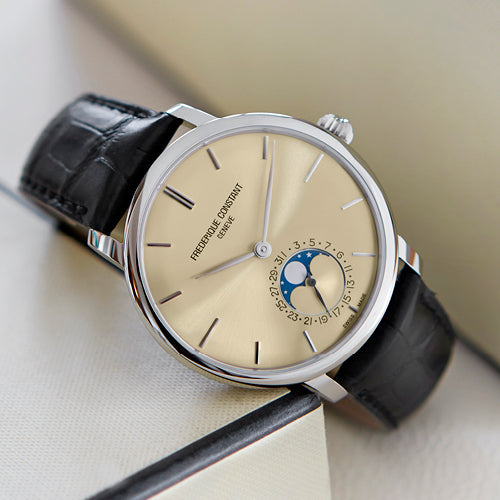 Frederique Constant presents thenew <br>Slimline Moonphase Manufacture