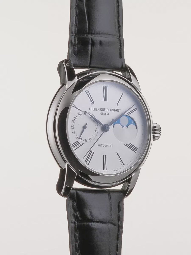 Convex sapphire crystal watch