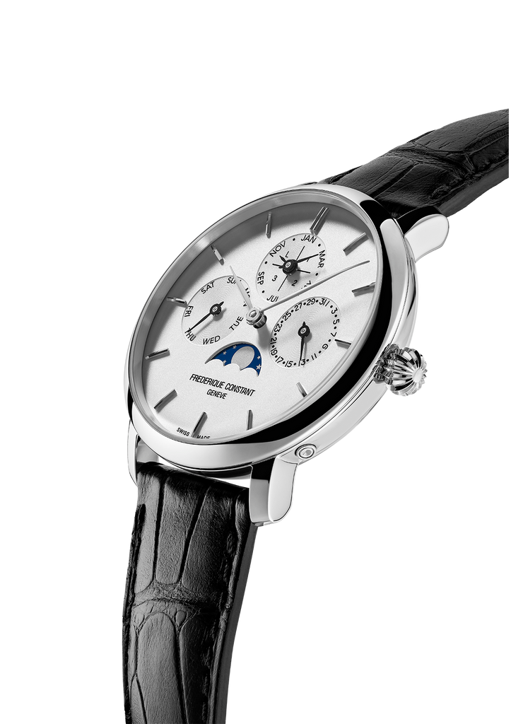 Manufacture silver dial watch