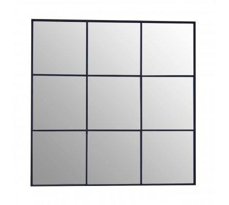 Grid Wall Mirror With Black Finish Frame - Modern Home Interiors