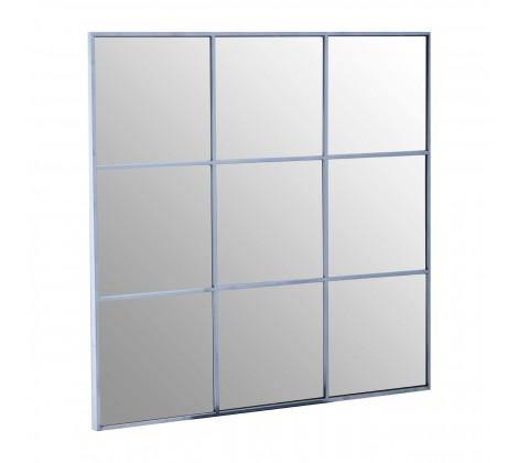 Grid Wall Mirror With Silver Finish Frame - Modern Home Interiors