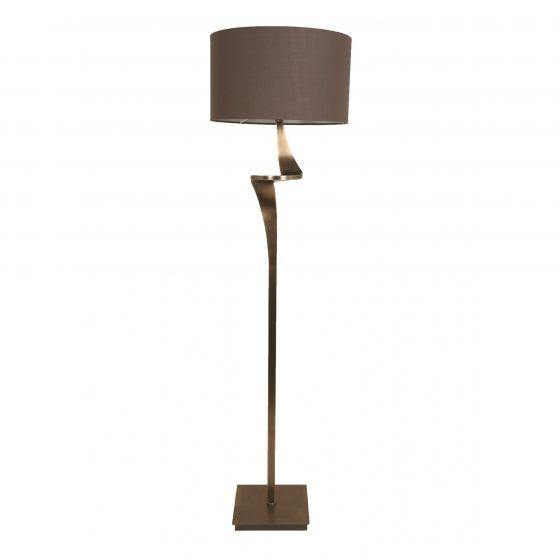 RV Astley Enzo Antique Brass Floor Lamp - Modern Home Interiors