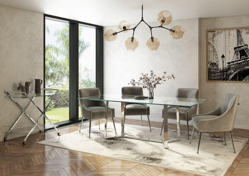 Alberto 160cm Glass Dining Table - Modern Home Interiors