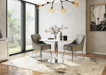 Load image into Gallery viewer, Parma Round 120cm Light Grey Marble Dining Table - Modern Home Interiors