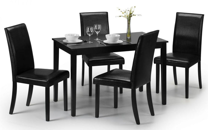 Hudson Black Wooden Dining Set - Modern Home Interiors