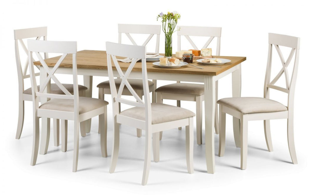 Julian Bowen Davenport Extending Rectangular Dining Set - Modern Home Interiors