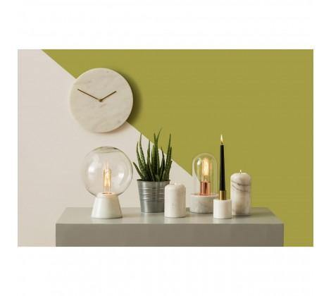 Lamonte White Marble Wall Clock - Modern Home Interiors