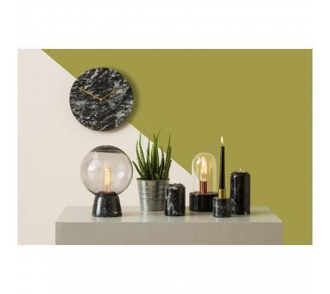 Lamonte Black Marble Wall Clock - Modern Home Interiors