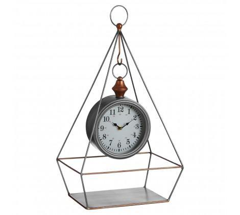 Hayden Antique Silver Finish Table Clock - Modern Home Interiors