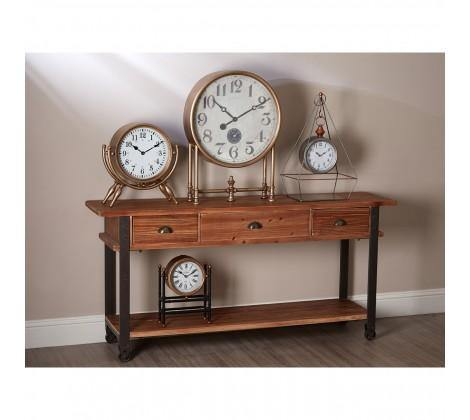 Hayden Gold Finish Table Clock - Modern Home Interiors