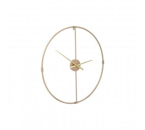 Modern Wall Clock With Gold Finish Metal Open Frame - Modern Home Interiors
