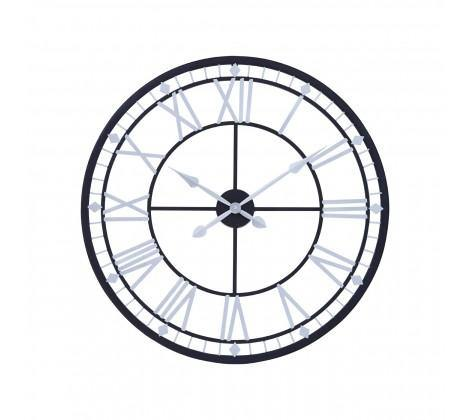 Skeletal Wall Clock With Black Finish Frame - Modern Home Interiors