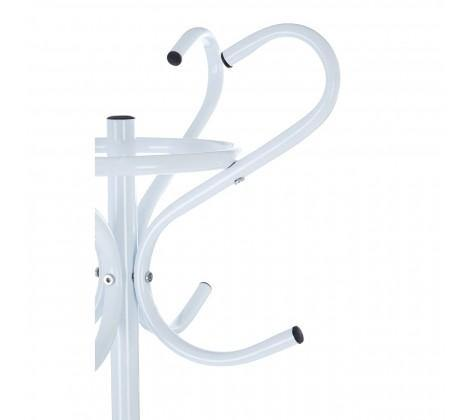 White Powder Coated Metal Coat Stand - Modern Home Interiors