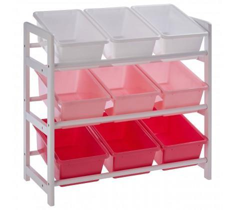 3 Tier White/Pink Kids Storage Unit - Modern Home Interiors