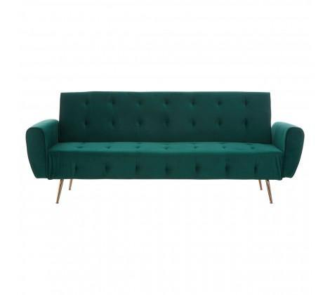 Hayton Green Velvet Sofa Bed - Modern Home Interiors