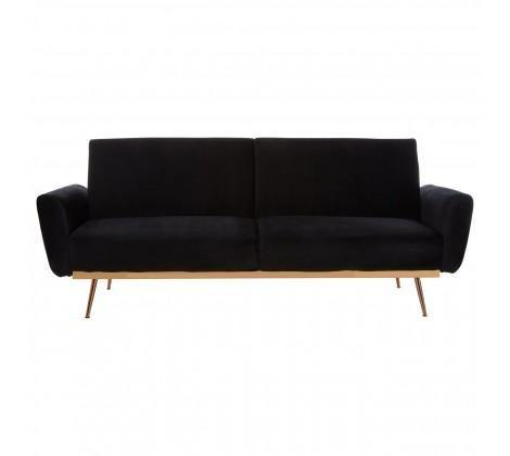Hatton Black Velvet Sofa Bed - Modern Home Interiors
