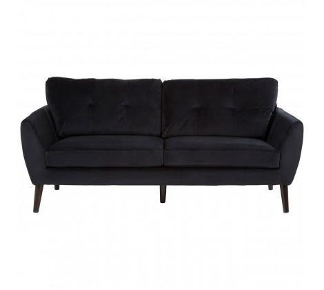 Solstice 3 Seat Black Sofa - Modern Home Interiors