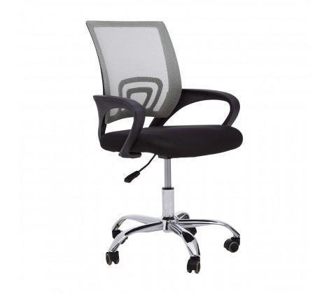 Grey Home Office Chair With Black Armrest - Modern Home Interiors