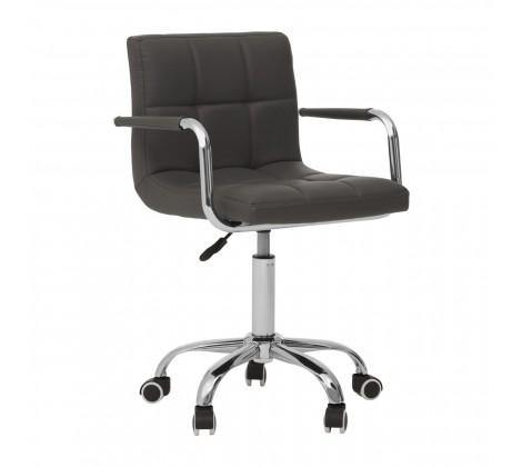 Home Office Chair With Swivel Base - Grey - Modern Home Interiors
