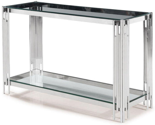 Vasari Console Table Glass and Chrome - Modern Home Interiors