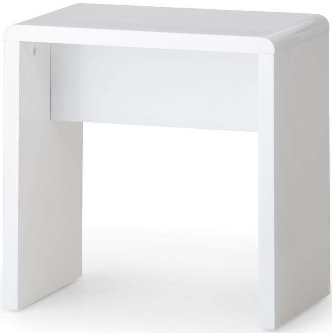 Julian Bowen Manhattan White High Gloss Bedroom Stool Only - Modern Home Interiors