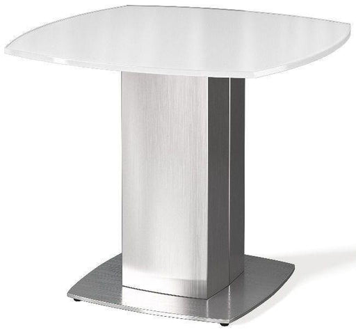 Torelli Olivia White Glass Side Table - Modern Home Interiors