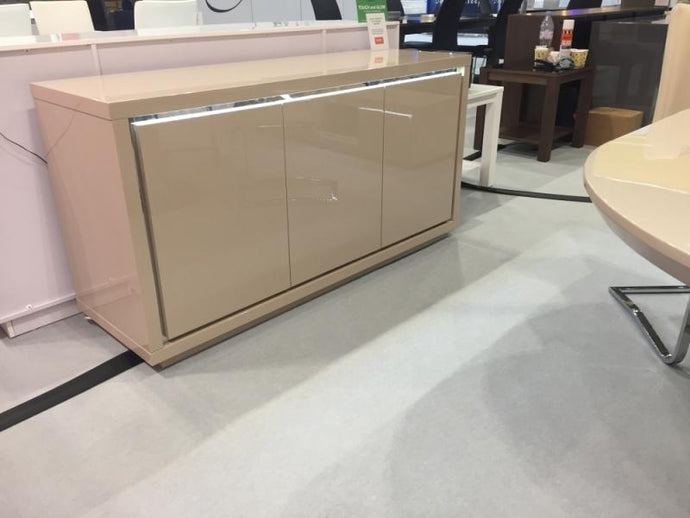 Sardinia Cream High Gloss Sideboard with LED - Modern Home Interiors
