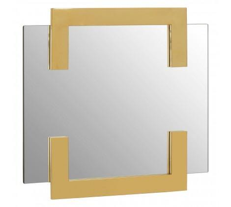 Deana Modern Wall Mirror with Gold Trim - Modern Home Interiors