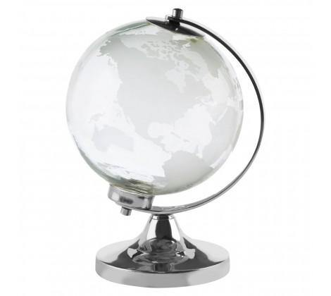 Churchill Silver Finish Glass Globe - Modern Home Interiors