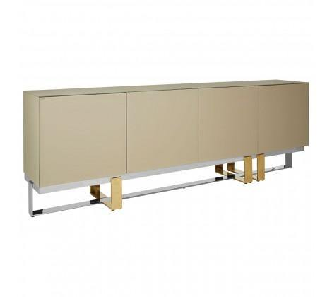 Demas Gloss Sideboard with Chrome/Gold Legs - Modern Home Interiors