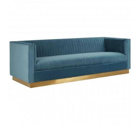 Opal 3 Seat Light Blue Sofa - Modern Home Interiors