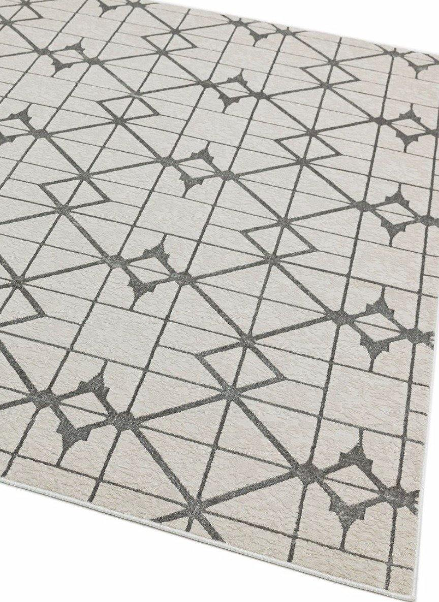Aurora High Shine Abstract Rug - Lattice - Modern Home Interiors