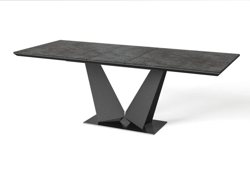 Westin Ceramic Ext Dining Table Grey - 180-220cm - Modern Home Interiors