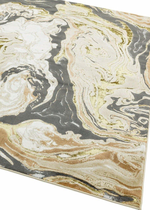 Aurora High Shine Abstract Rug - Marble - Modern Home Interiors