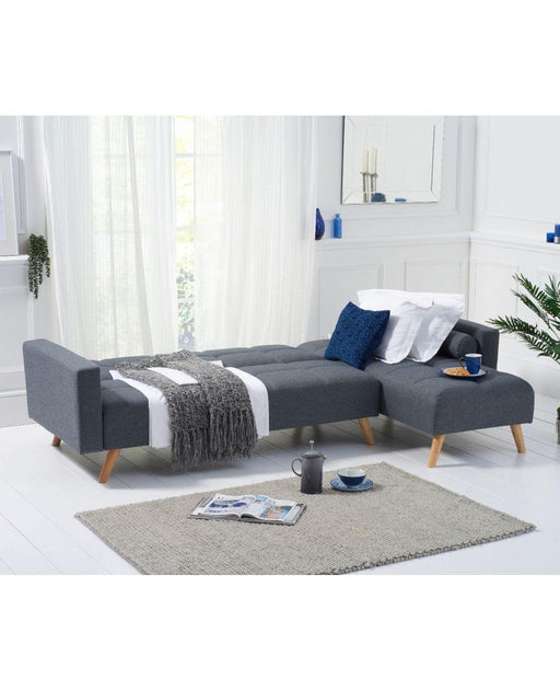 Abigail Grey Linen Right Hand Facing Chaise Sofa - Modern Home Interiors